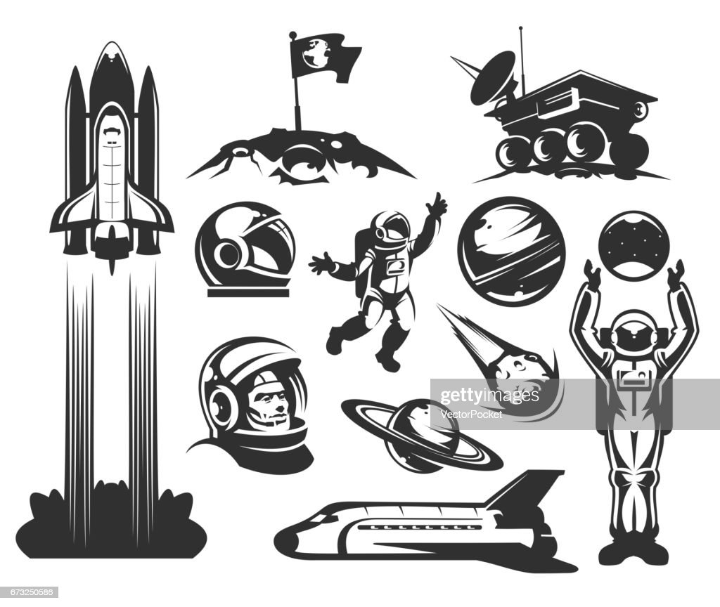Set of vector icons space.