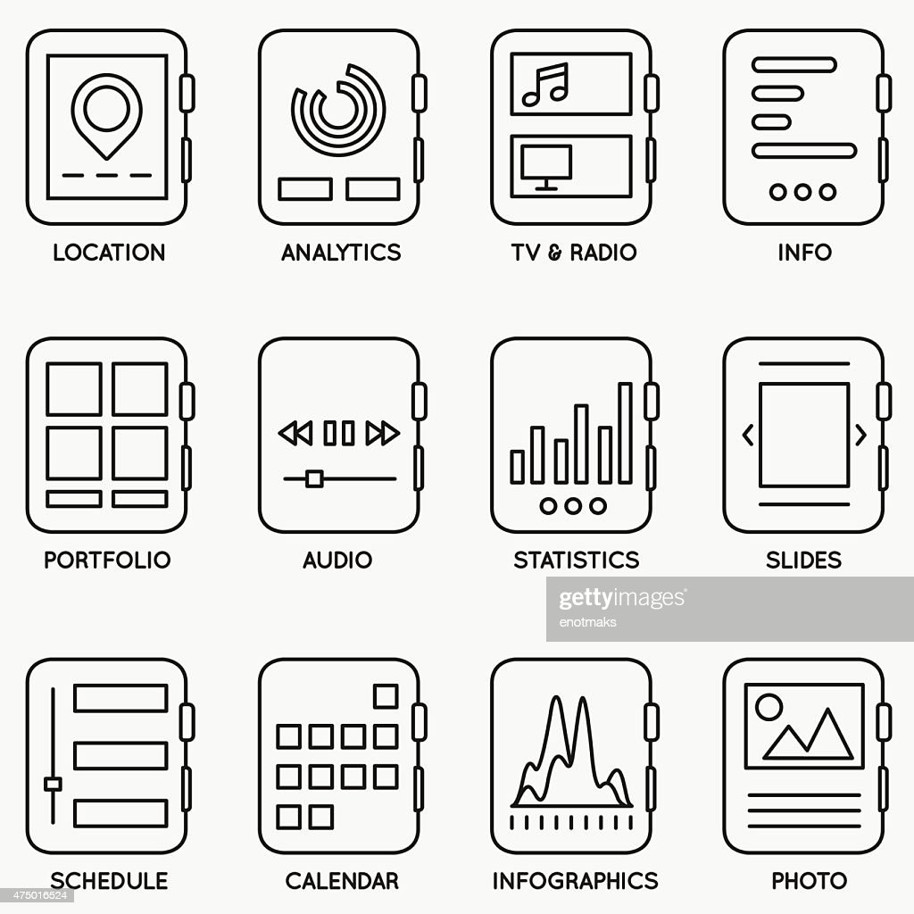 Set of vector kits of mobile watch - part 2