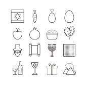 Set of vector line passover icons for web design