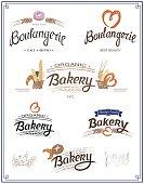 Set of vector logo for Bakery