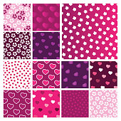 Set of Vector Patterns for Valentine's Day