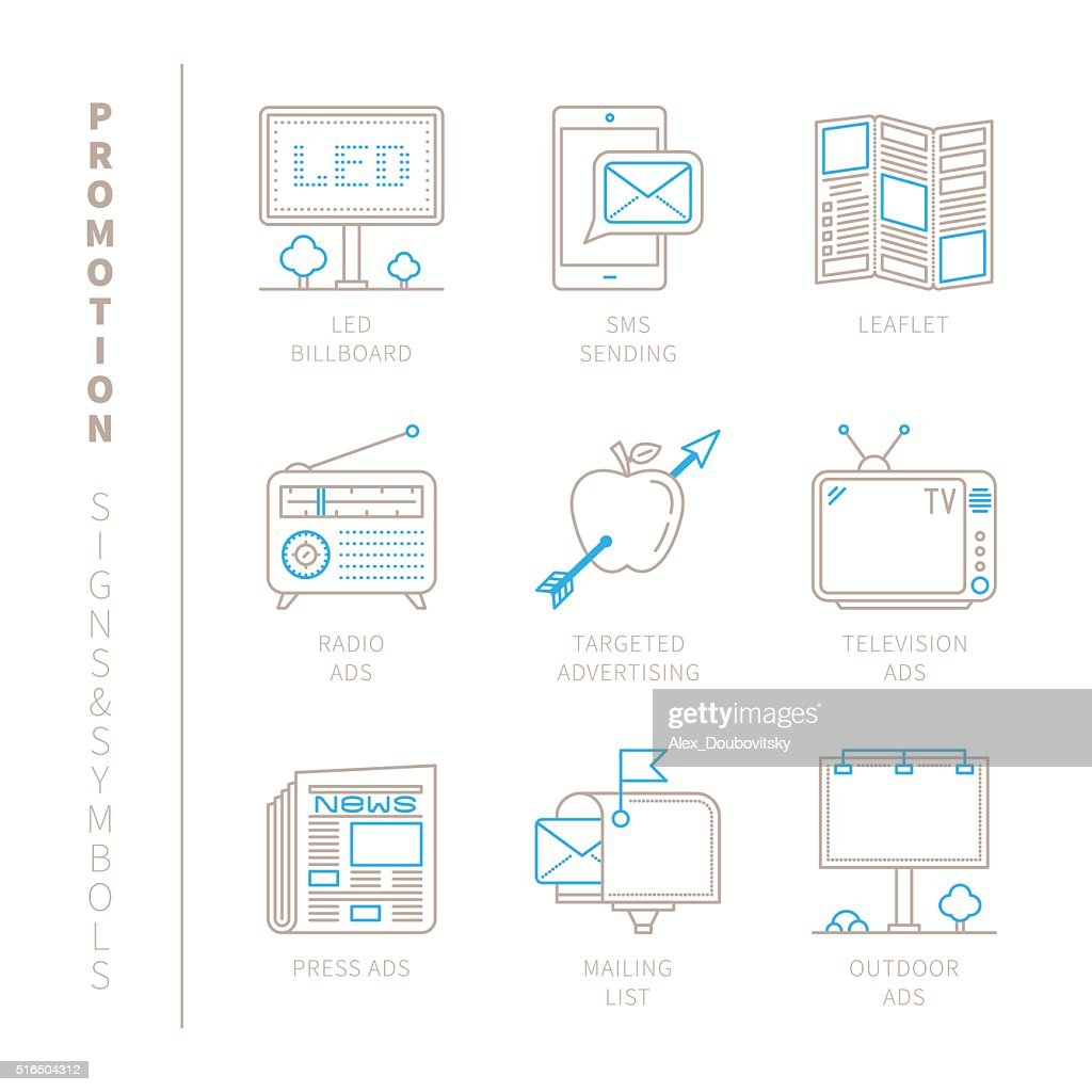 Set of vector promotion icons and concepts