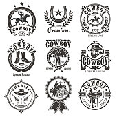 Set of vector rodeo logos