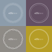 Set of vector round banners