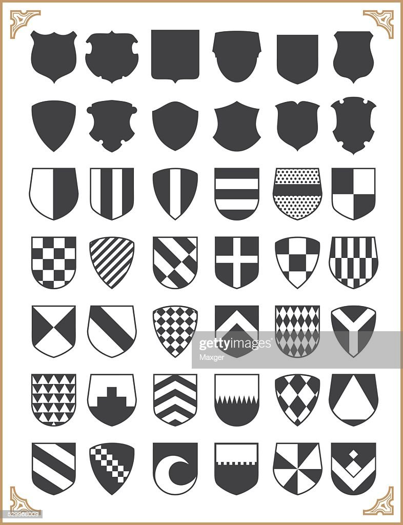 Set of vector shields