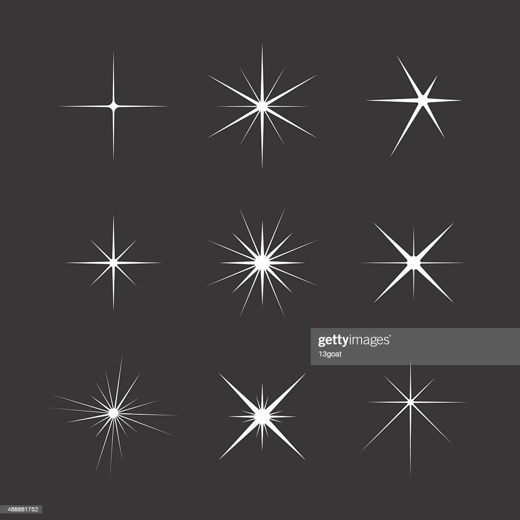 Set of Vector Sparkles Star