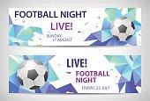 Set of vector sport football banners.