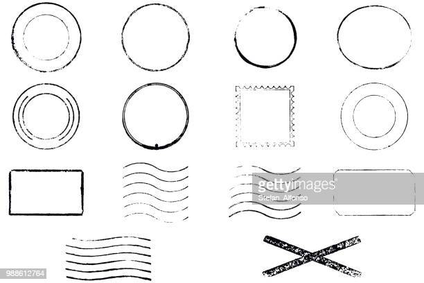 set of vector stamps. no text. - rubber stamp stock illustrations
