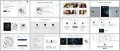 Set of vector templates for website design, minimal presentations, portfolio. Simple elements on white. Templates for presentation slides, flyer, leaflet, brochure, annual report. Technology concept.