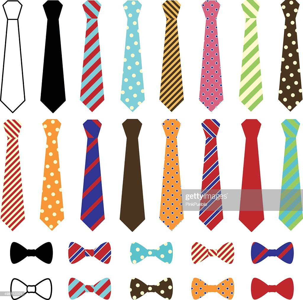 Set of Vector Ties and Bow Ties