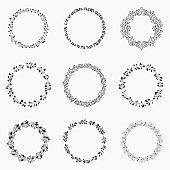 Set of vector wreaths
