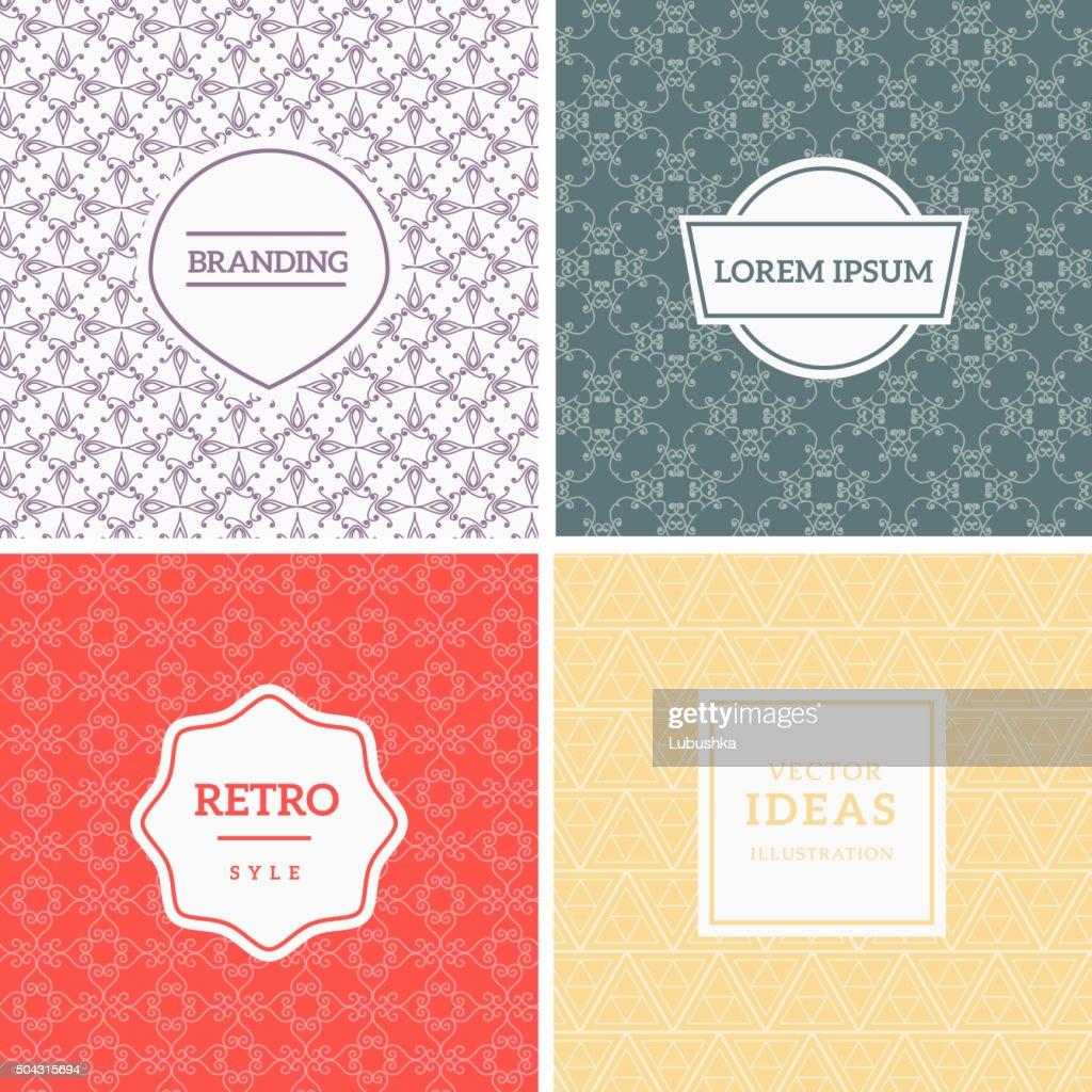 Set of Vintage Backgrounds