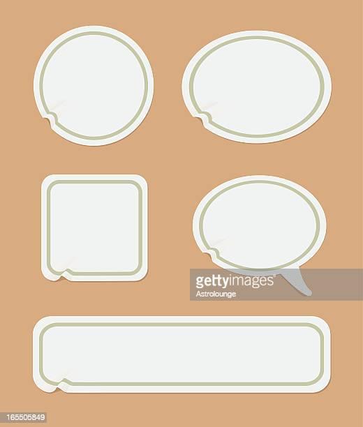 Set of vintage empty labels sticks