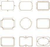 Set of vintage frame.