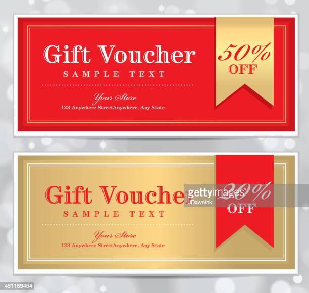 Set of vintage Gift Certificate design templates