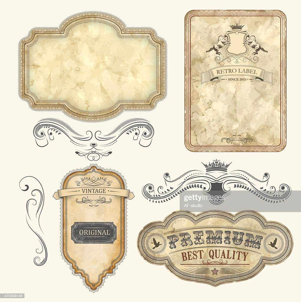 Set of Vintage Labels