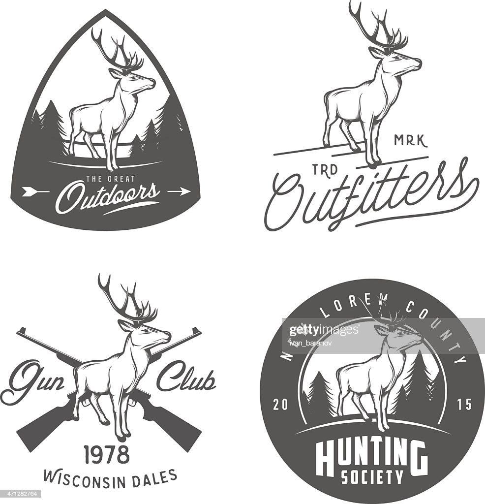 Set of vintage outdoors labels, badges and design elements