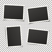 Set of vintage photo frames isolated on background. Vector eps.