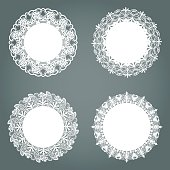 Set Of Vintage Round Lace frames for your text or photo.