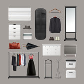 Set of wardrobe stuff