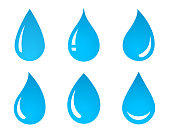 set of water drop icons