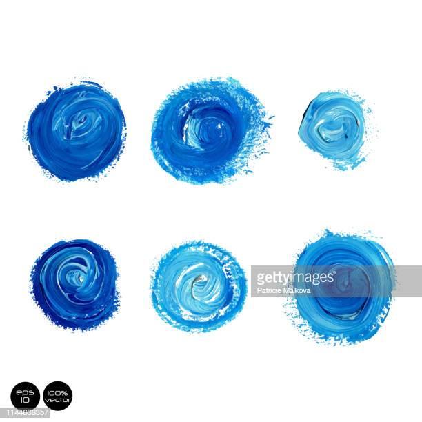 set von aquarellmalerei, farbfleck, vektorgrunge, aquarell-bannerkollektion - färbemittel stock-grafiken, -clipart, -cartoons und -symbole