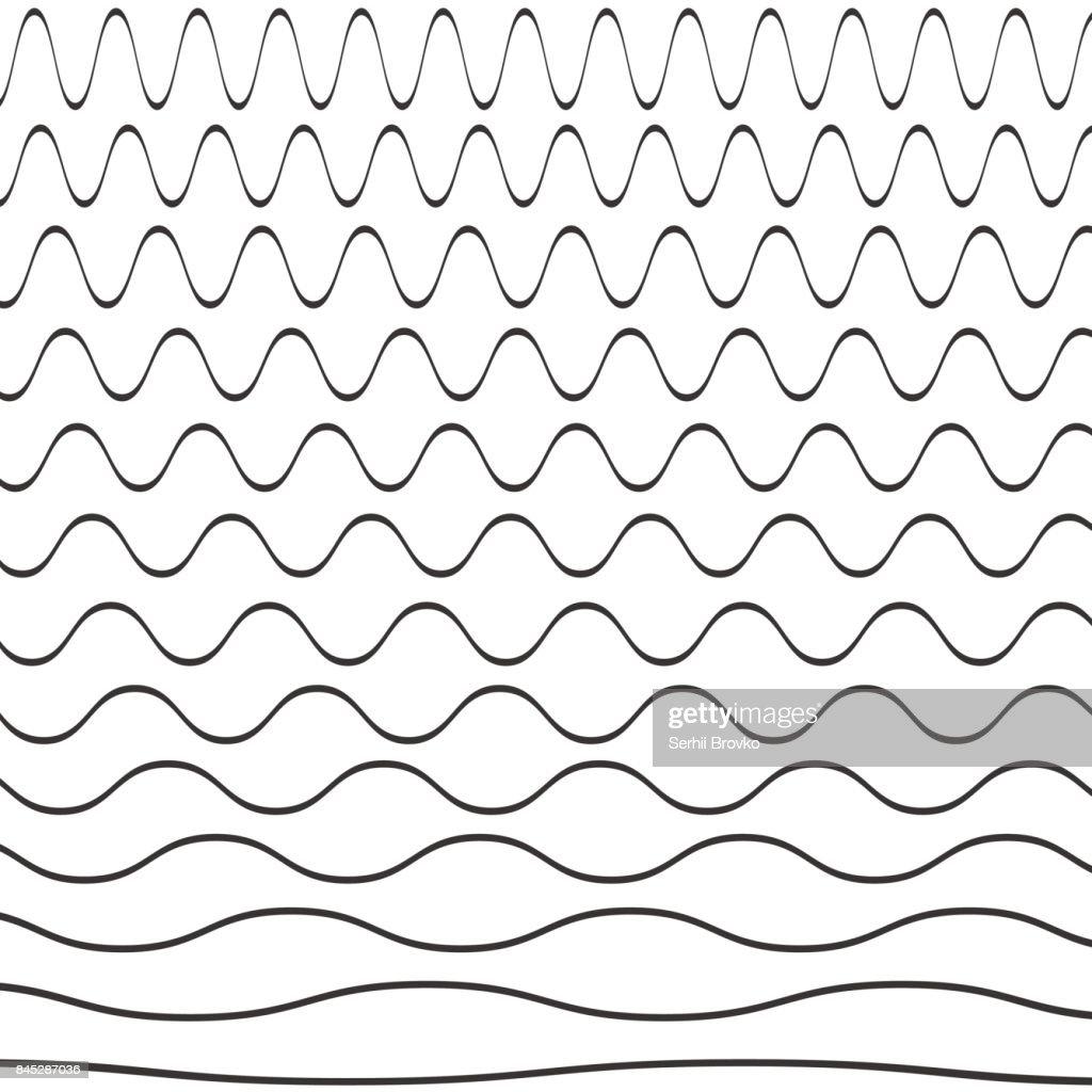 Set of wavy pattern