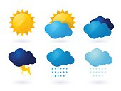 set of weather vector icons