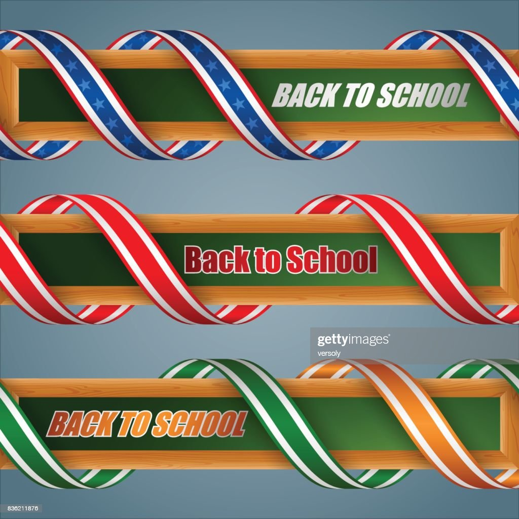 Set of web banners for Back to school, event