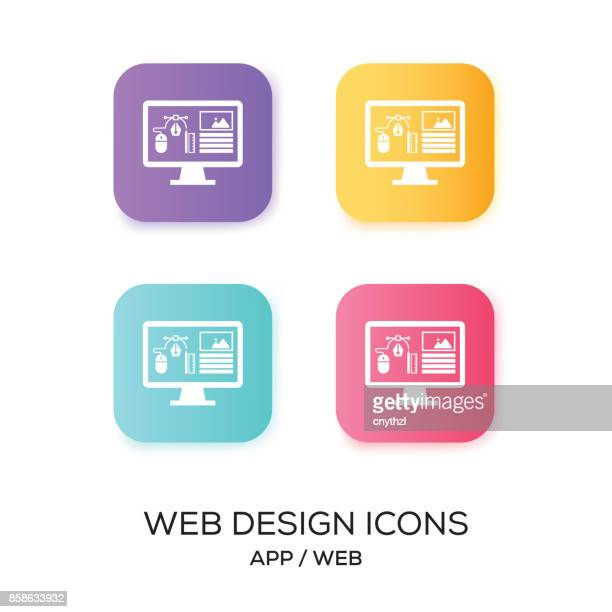 Set of Web Design App Icon