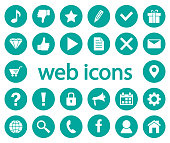 Set of web icons. Vector illustration