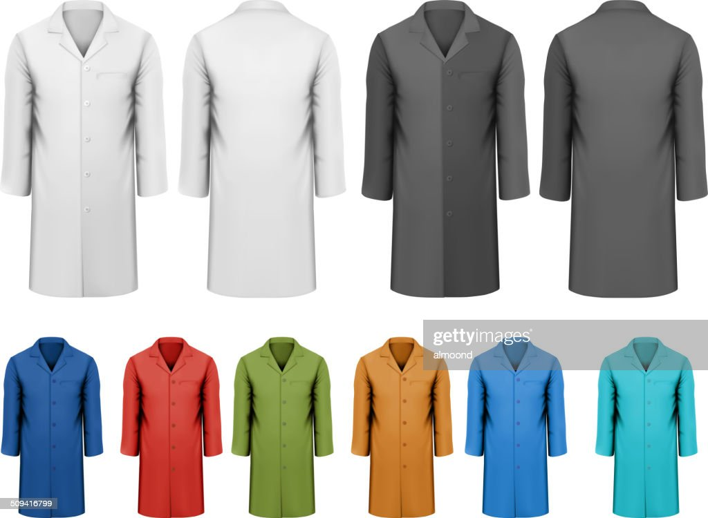 Set of white and black colorful work clothes. Vector