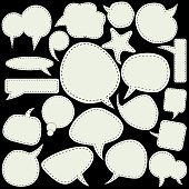 Set of white speech bubbles