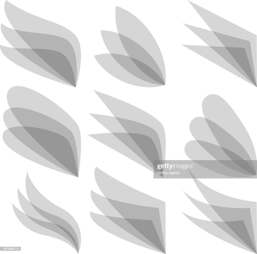 Set of wing logo for business identity. Vector