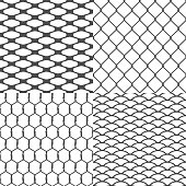 Set of Wires Seamless Backgrounds Vector