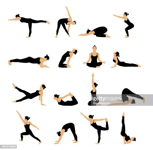 5 037 Yoga High Res Illustrations Getty Images