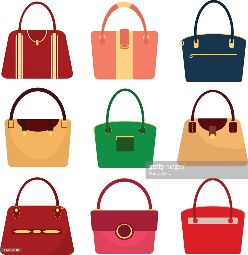 A set of women's handbags, a women's bag