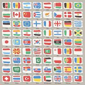 Set of World States Flags