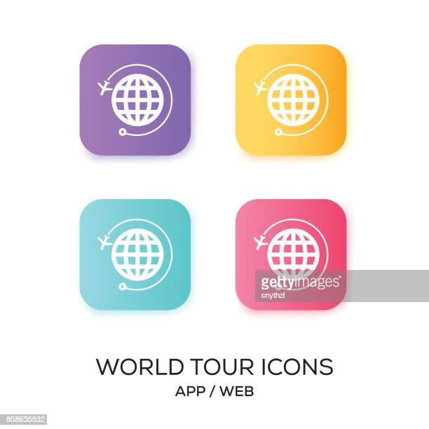 World Tour App Icon set