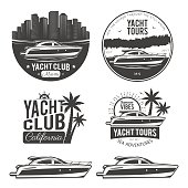 Set of yacht