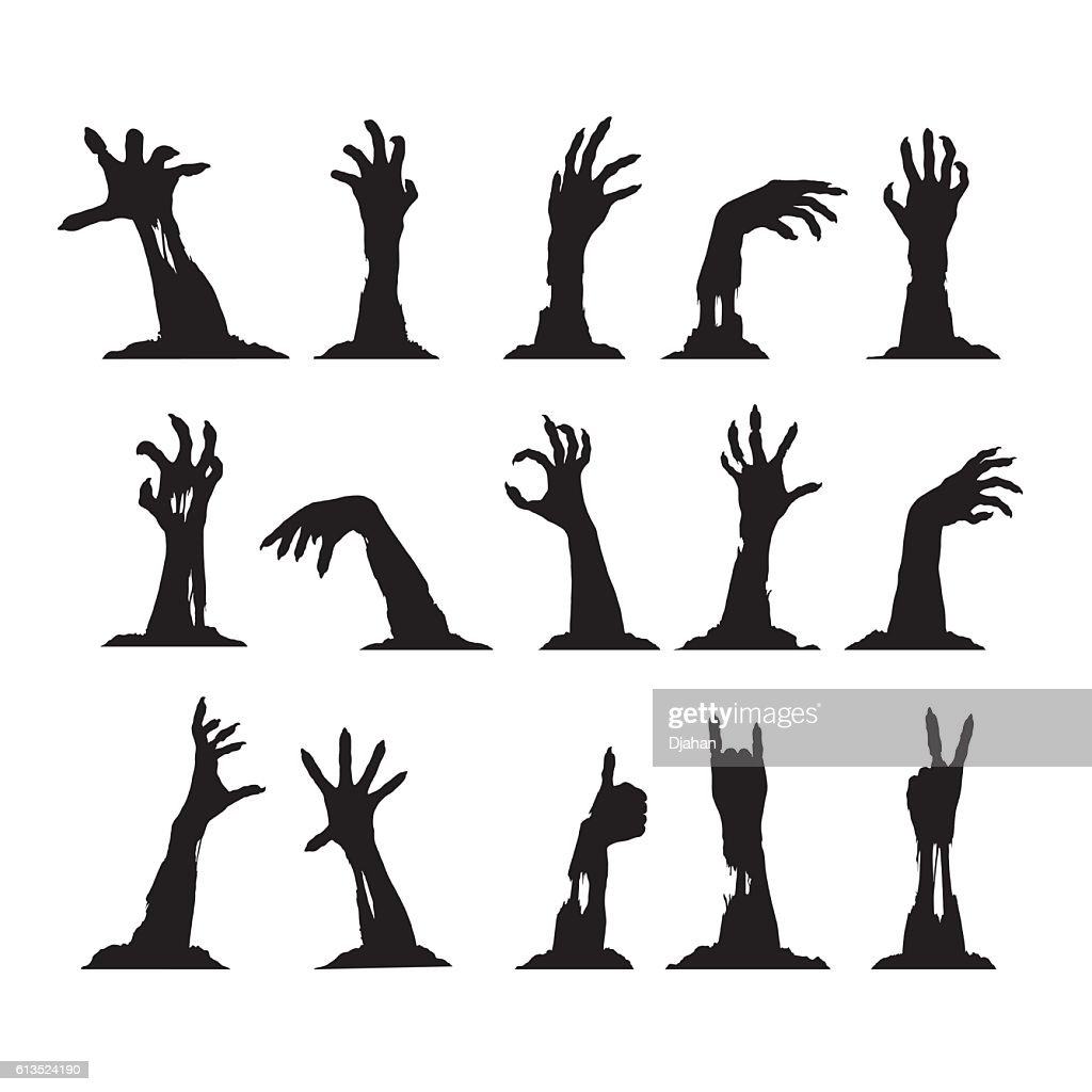 Set of Zombie Hands