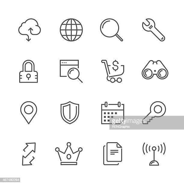 Set ofweb & internet-Konzept-Linie-icon Serie