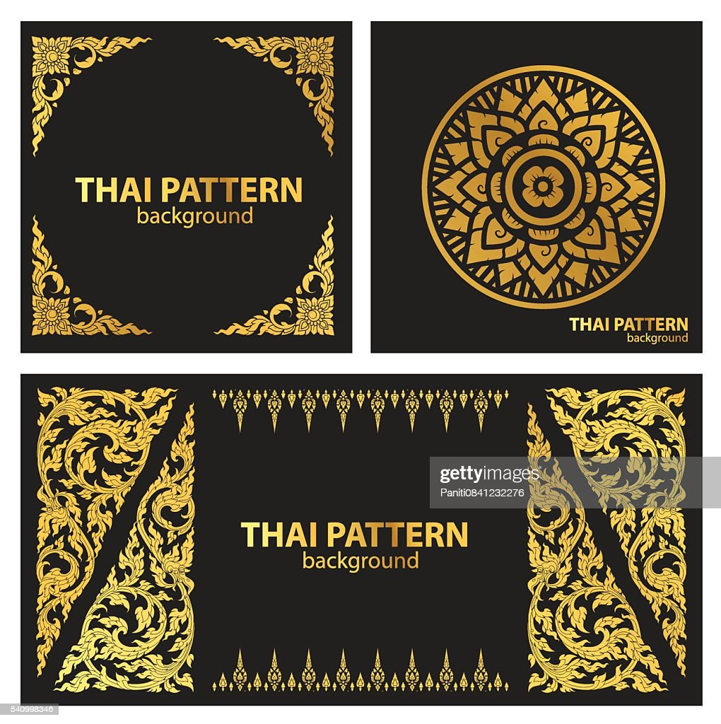 set pattern lines thai vector