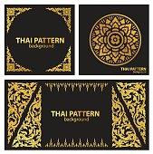 set pattern lines thai vector