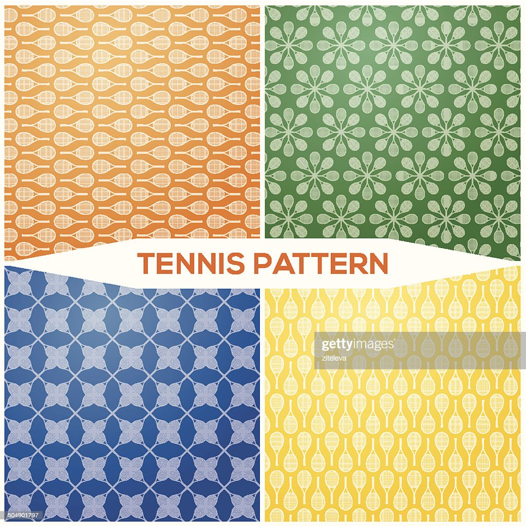 Set pattern tennis racket