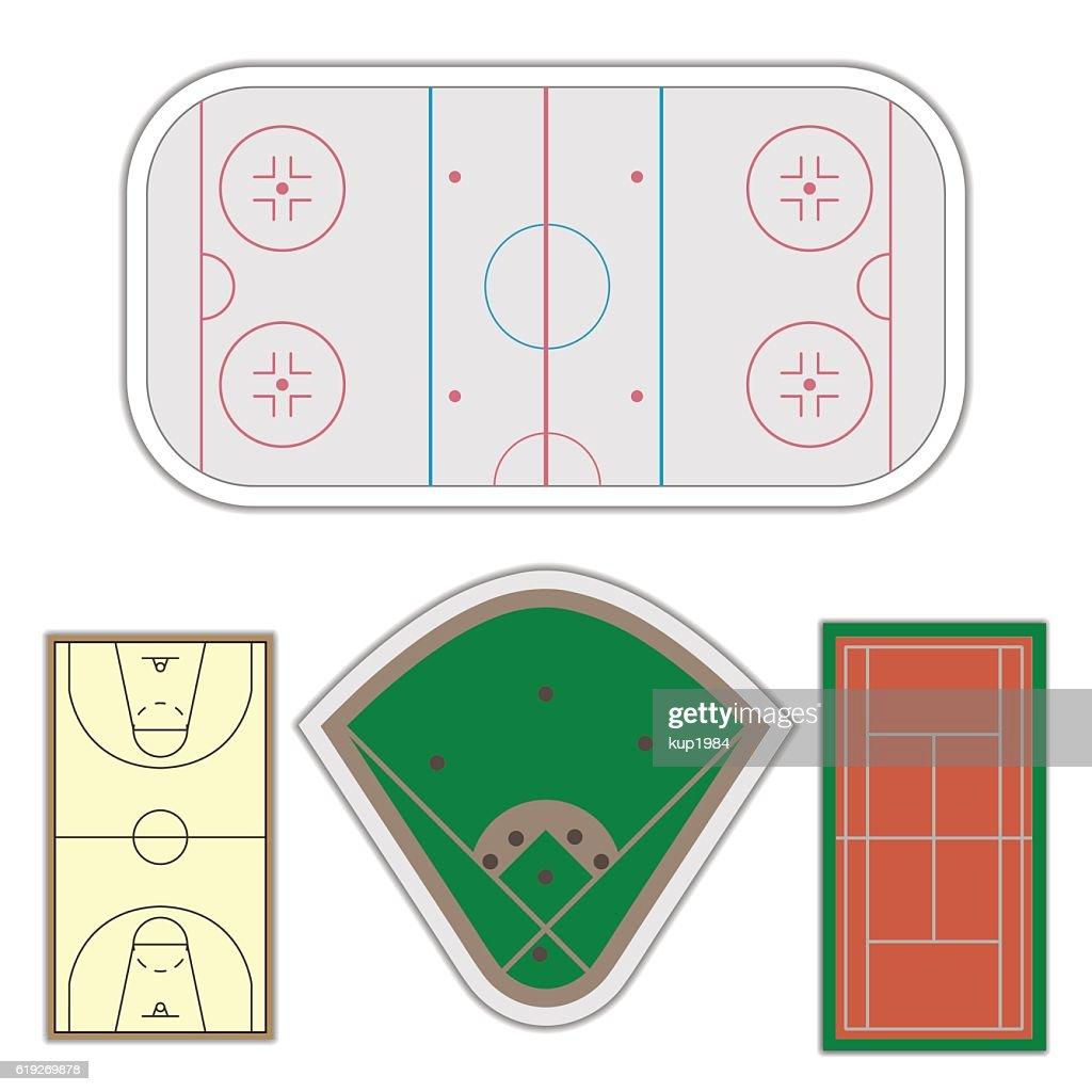 Set playgrounds, vector illustration.