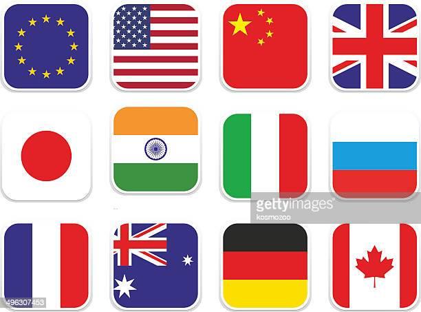 Das beliebte square Flagge