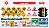 set road sign.