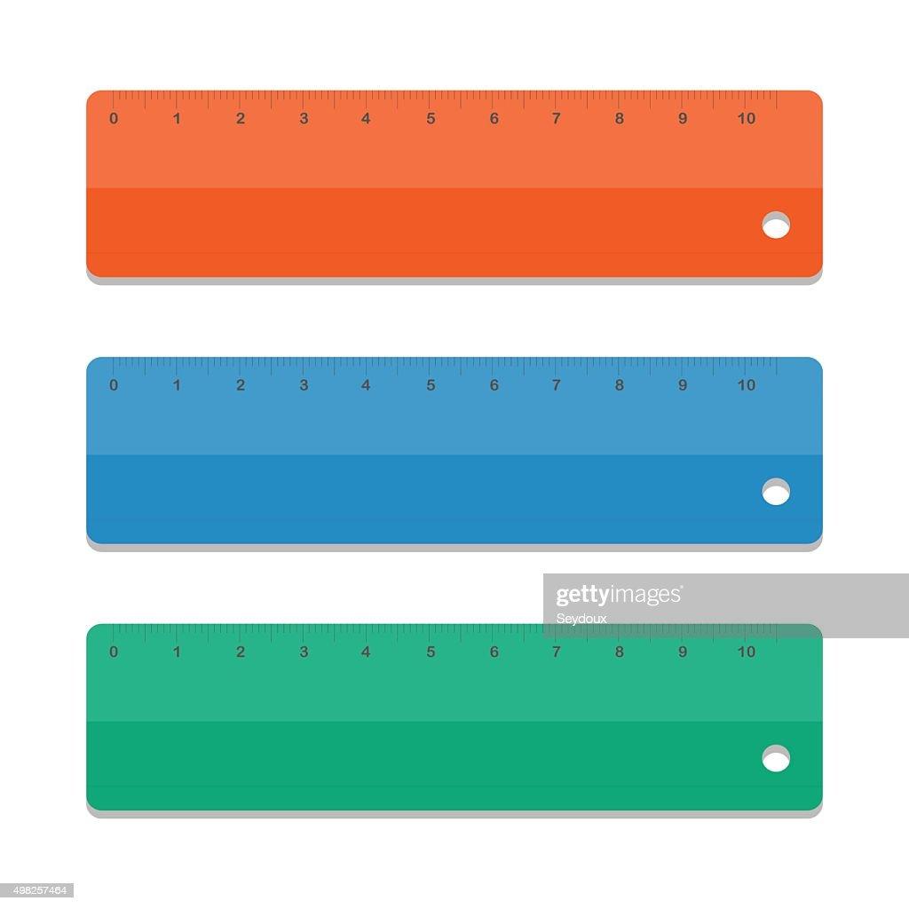 Set rulers. Vector illustration