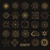 Set Sacred geometry forms